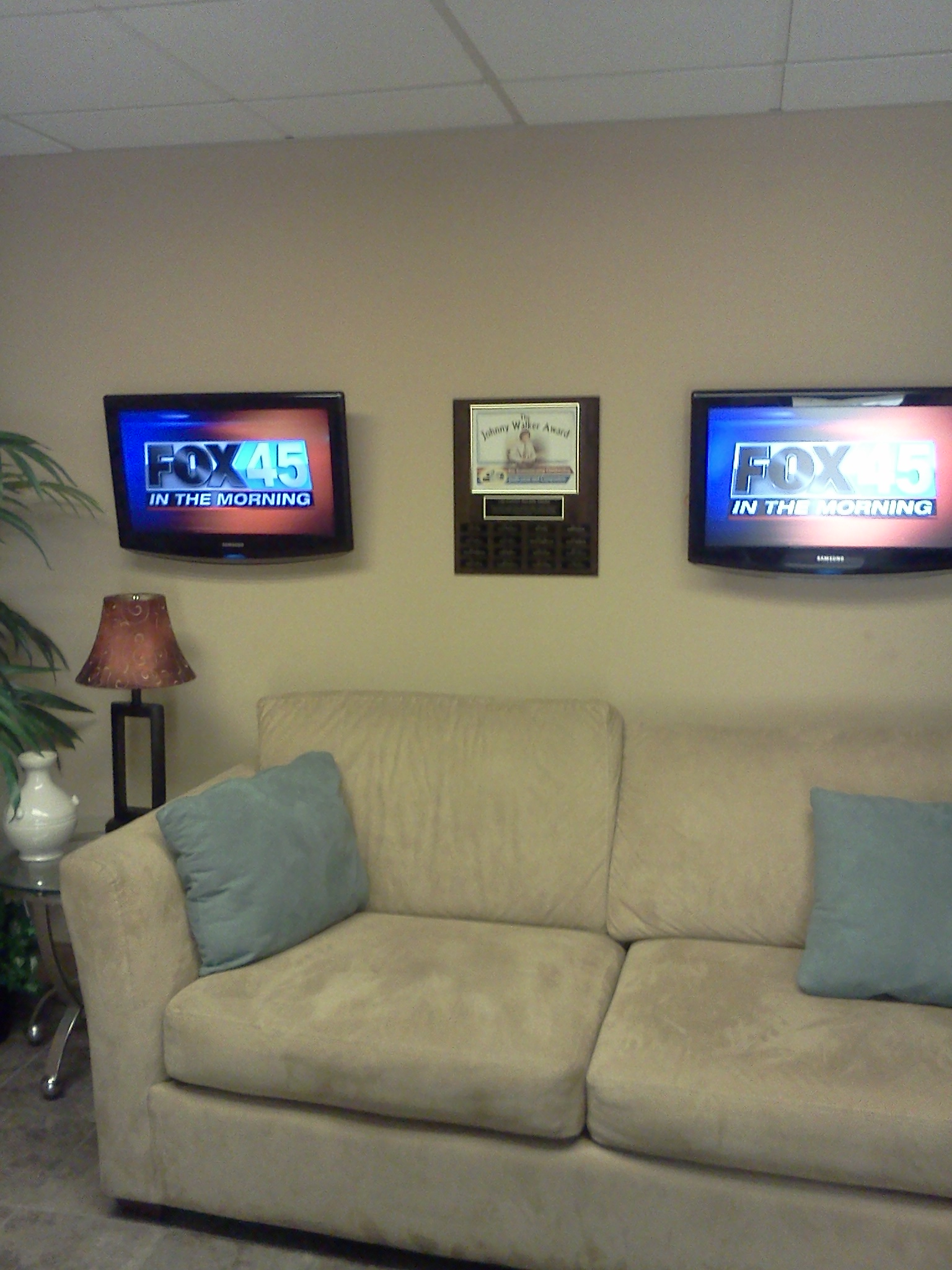 Fox 45 waiting room