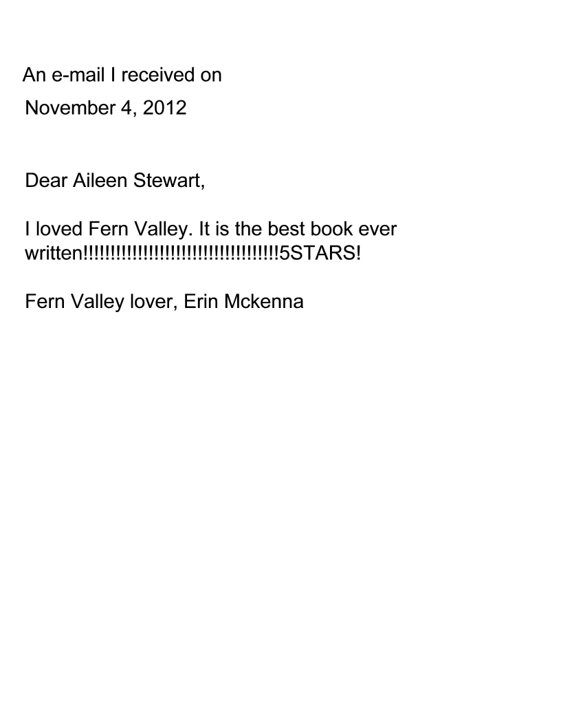 E-Mail from Erin in Ohio.