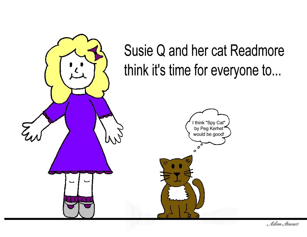 Susie Q and her cat Readmore